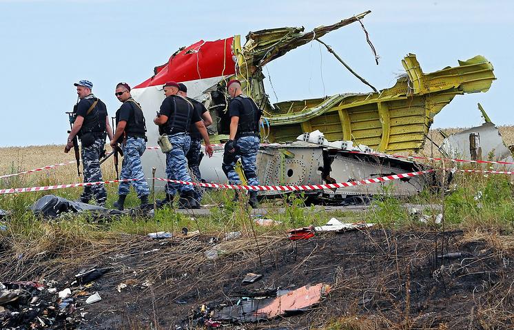 At the crash site