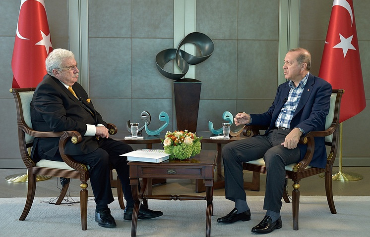 Turkish President Recep Tayyip Erdogan and TASS First Deputy Director-General Mikhail Gusman