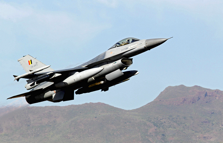 F-16 fighter of the Belgian Air Force