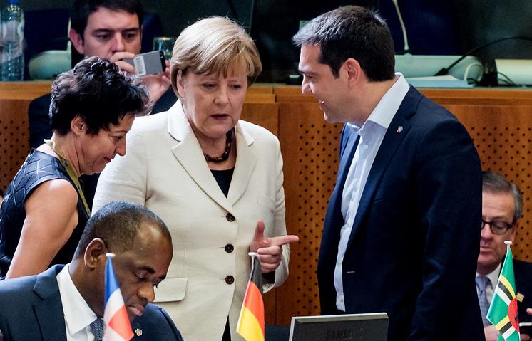 Канцлер Германии Ангела Меркель и премьер-министр Греции Алексис Ципрас