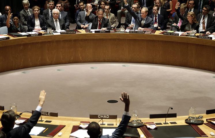 Голосование на заседании Совета Безопасности ООН