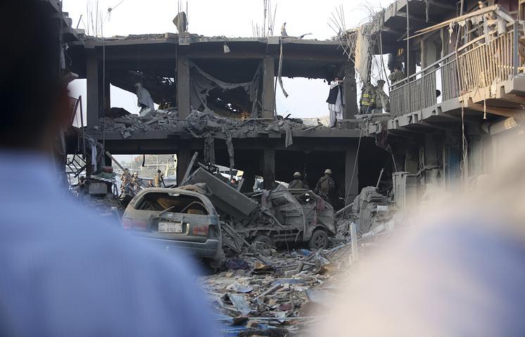 Кабул. Место взрыва