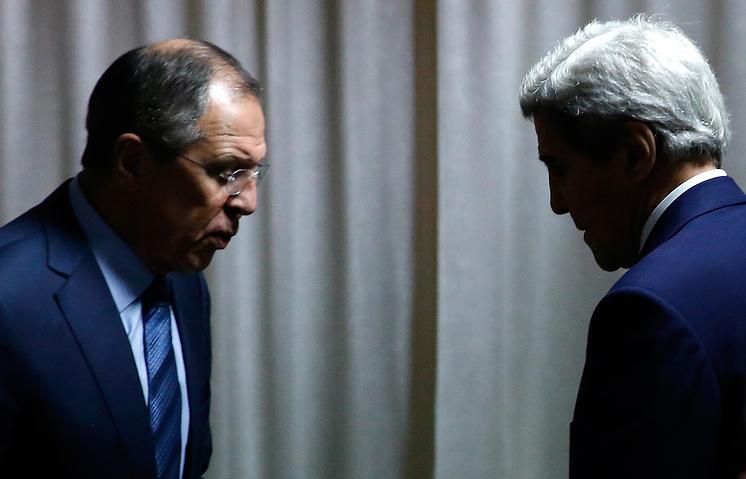 Министр иностранных дел РФ Сергей Лавров и госсекретарь США Джон Керри