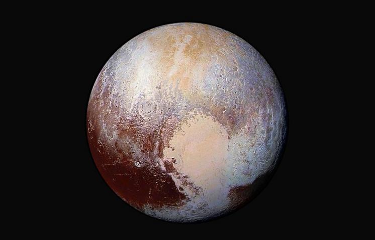 Фото Плутона, сделанное космическим аппаратом New Horizons