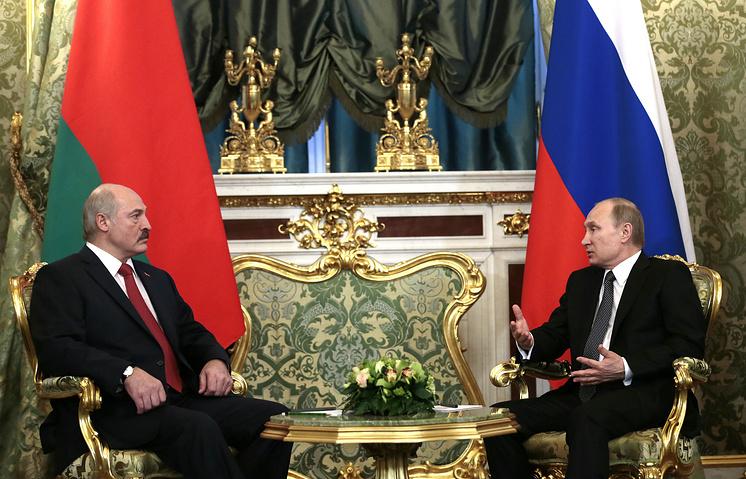 Президент Белоруссии Александр Лукашенко и президент России Владимир Путин