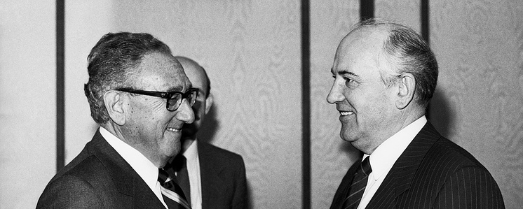 Михаил Горбачев и Генри Киссинджер, 1989