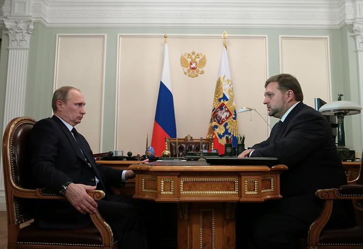 Президент РФ Владимир Путин и губернатор Кировской области Никита Белых, 2013 год