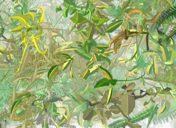 Криста Зоммерер и Лоран Миньонно. Водный сад, 2004. Интерактивная инсталляция
