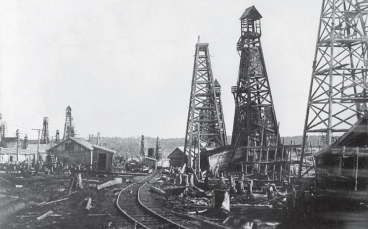 Промышленная добыча нефти на Сахалине развернулась лишь к 1920-м годам