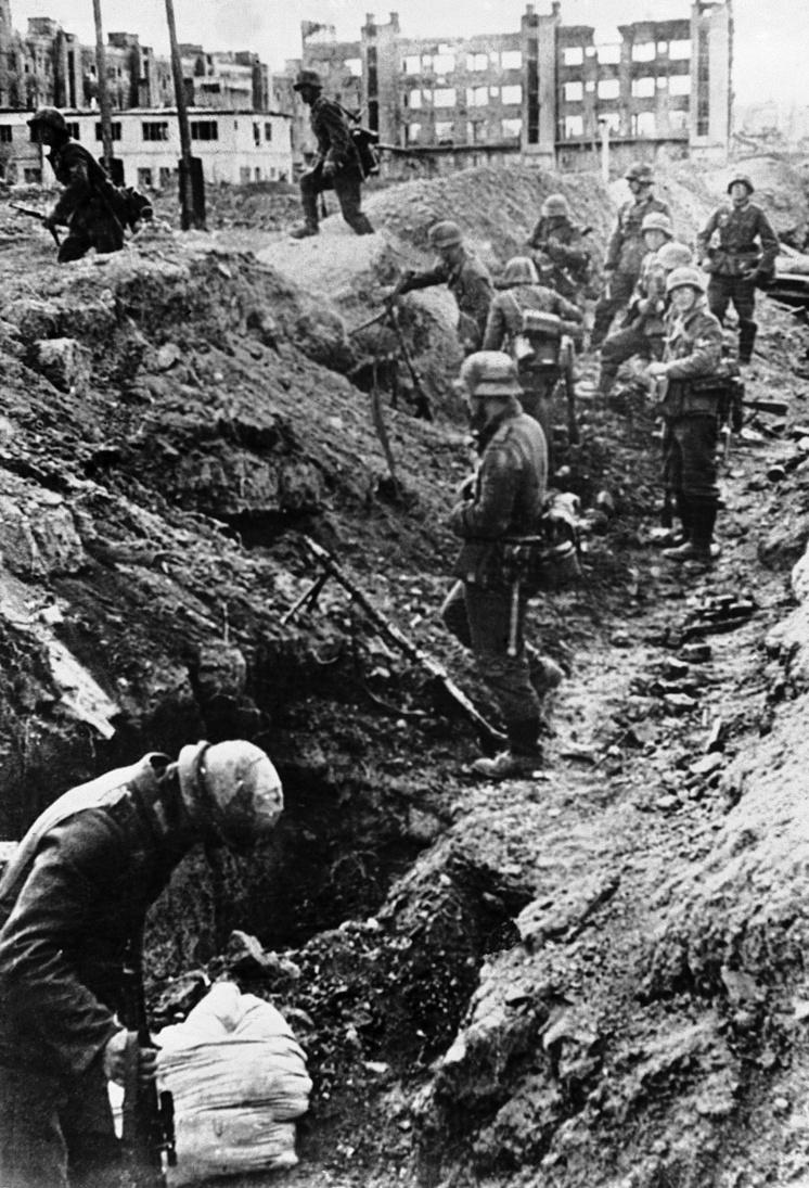 Немецкие войска в Ржеве