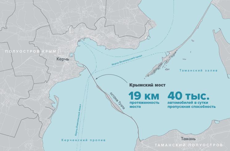 Карта расположения Крымского моста