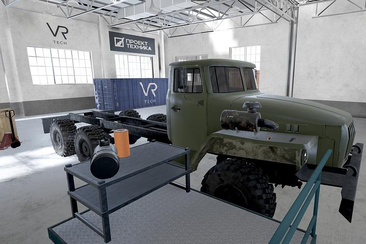 Тренажёр замены воздушного фильтра на автомобиле Урал 4320