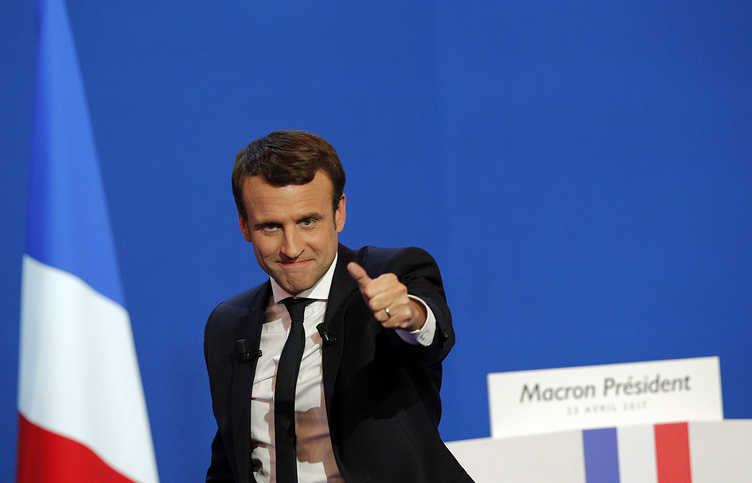 French centrist presidential candidate Emmanuel Macron