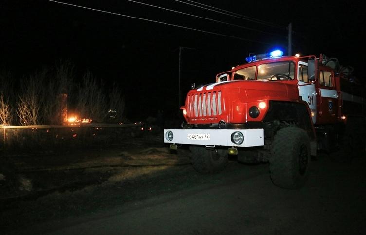 Во время тушения пожара в селе Мыркайском